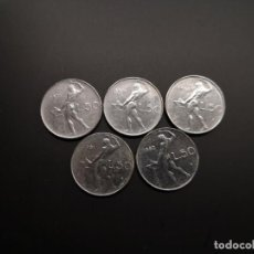 Monedas de España: LOTE 5 MONEDAS 50 LIRAS ITALIA. Lote 264137075