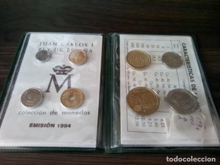 Monedas de España: CARTERA MONEDAS EMISION 1994 MAS UNA MONEDA 100 PTS SIN CIRCULAR DE ESE AÑO - Foto 3 - 265460004