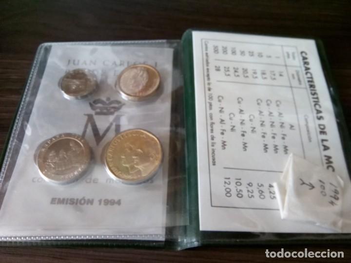 Monedas de España: CARTERA MONEDAS EMISION 1994 MAS UNA MONEDA 100 PTS SIN CIRCULAR DE ESE AÑO - Foto 4 - 265460004