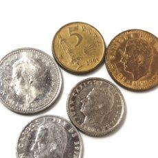 Monedas de España: LOTE DE 5 MONEDAS DEL REY JUAN CARLOS. 50 CTS,1 PTS COBRE Y ALUMINIO 5 PTS Y 10 PTS.. Lote 266429503