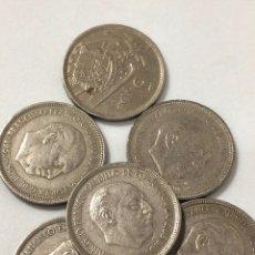 Monedas de España: 6 MONEDAS DE 5 PESETAS DE 1957 ESTRELLA 73.. Lote 267381174