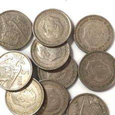 Monedas de España: 12 MONEDAS DE 5 PESETAS DE 1957 ESTRELLA 61.. Lote 267384554