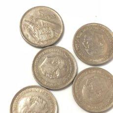 Monedas de España: 5 MONEDAS DE 5 PESETAS DE 1957 ESTRELLA 75.. Lote 267385269