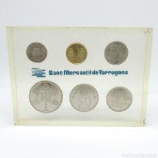 Monedas de España: PISAPAPELES PROMOCIONAL BANCO MERCANTIL DE TARRAGONA CON LAS MONEDAS 1980, MUNDIAL 82, BANC DE VALLS. Lote 267419729