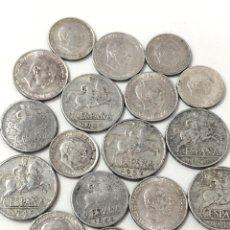 Monedas de España: LOTE DE CÉNTIMOS DE FRANCO. DE 1940 A 1966 . 18 MONEDAS.. Lote 268607029
