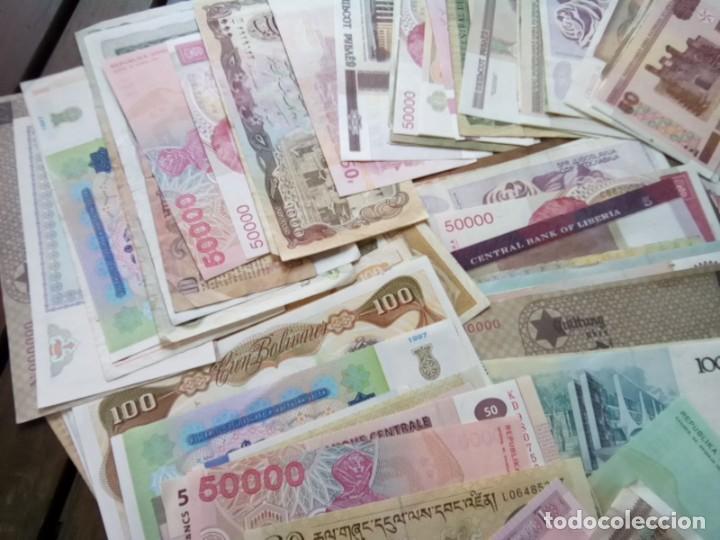 Monedas de España: LOTE DE 137 BILLETES EXTRANJEROS CIRCULADOS CON BUENA CONSERVACION B.C.+ - Foto 3 - 269092513