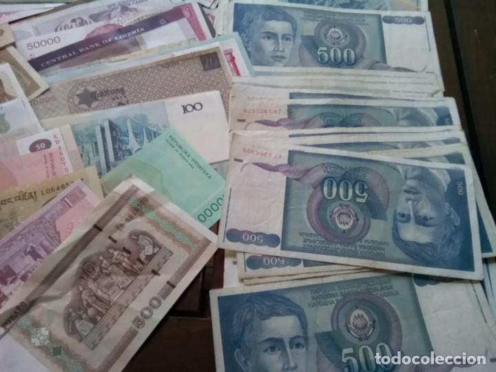 Monedas de España: LOTE DE 137 BILLETES EXTRANJEROS CIRCULADOS CON BUENA CONSERVACION B.C.+ - Foto 4 - 269092513