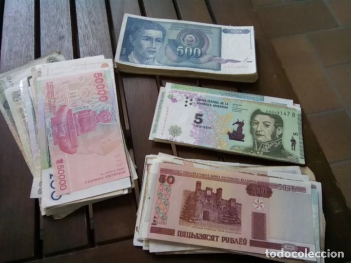Monedas de España: LOTE DE 137 BILLETES EXTRANJEROS CIRCULADOS CON BUENA CONSERVACION B.C.+ - Foto 5 - 269092513