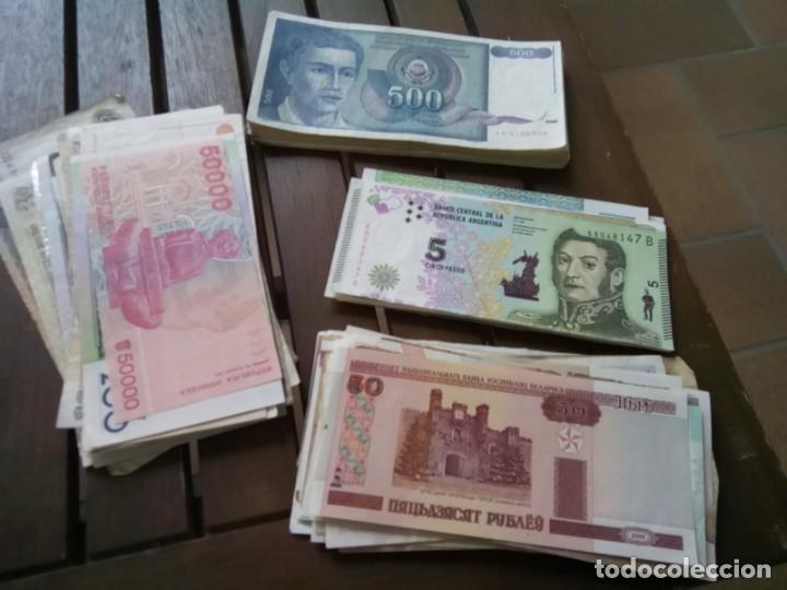 Monedas de España: LOTE DE 137 BILLETES EXTRANJEROS CIRCULADOS CON BUENA CONSERVACION B.C.+ - Foto 6 - 269092513