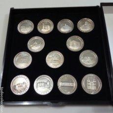 Monedas de España: ALMERÍA COLECCION COMPLETA 13 MONEDAS ARRAS PLATA DE PRIMERA 1@ LEY 925/000. LA VOZ DE ALMERÍA. Lote 270246828