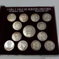 Monedas de España: ALMERÍA COLECCION COMPLETA 13 MONEDAS ARRAS PLATA DE LEY. PERIODICO EL IDEAL. Lote 270247338