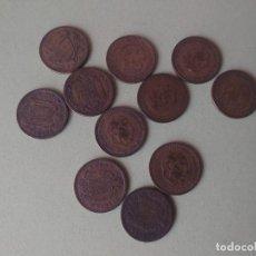 Monedas de España: LOTE 11 MONEDAS DE 1 PESETA FRANCO AÑOS 1947-1963. Lote 272273508