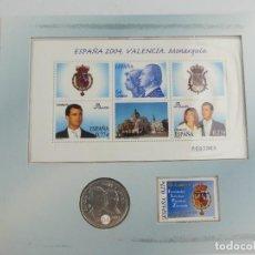 Monedas de España: CONMEMORACIÓN DE UN HECHOS HISTÓRICO: LA BODA REAL. EDICIÓN CONJUNTA, NUMERADA Y DE TIRADA LIMITADA. Lote 275937818