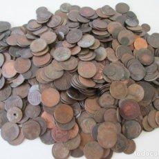 Monedas de España: LOTE DE 5,8 KILOS DE MONEDAS DE COBRE. Lote 276780758