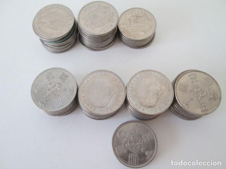 LOTE DE 65 MONEDAS DE 100 PESETAS DE JUAN CARLOS I (Numismática - España Modernas y Contemporáneas - Colecciones y Lotes de conjunto)