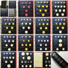 Monedas de España: ⚜️ B2339. MUY NUEVO!!! COLECCIÓN JUAN CARLOS, 48 PIEZAS SIN CIRCULAR EN ÁLBUM PARDO. 1,5KG. Lote 277023163