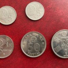 Monedas de España: 5 MONEDAS ESPAÑA 82. Lote 277453188