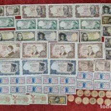 Monedas de España: COLECCION DE 74 BILLETES. SIN CIRCULAR. BANCO DE ESPAÑA. SIGLO XX.. Lote 277559973