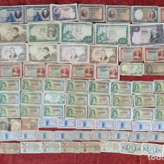 Monedas de España: COLECCION DE 117 BILLETES. BANCO DE ESPAÑA. VER DESCRIPCION. SIGLO XX.. Lote 277565898