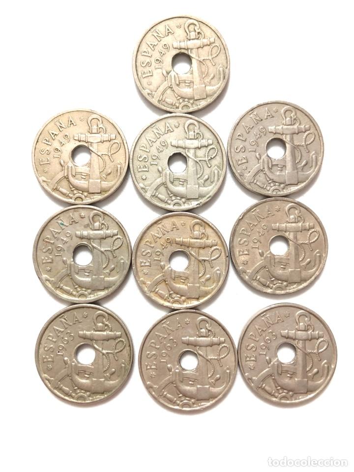 Monedas de España: 50 céntimos. Lote completo. Flechas invertidas y la escasísima 1963 estrella 63. - Foto 3 - 278331483
