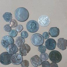 Monedas de España: 28 MONEDAS DE VARIOS AÑOS, ROMANAS, FELIPE IV, ALFONSO XII, LAS DE LA FOTO. Lote 278528978