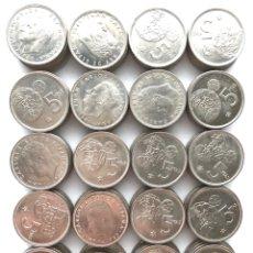 Monedas de España: 5 PESETAS DE 1980 *81. MUNDIAL DE FÚTBOL DEL 82. LOTE DE 100 MONEDAS.. Lote 281901378