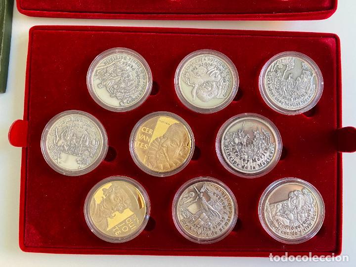 Monedas de España: EL INGENIOSO HIDALGO DON QUIJOTE , 26 MEDALLAS DE PLATA ESTUCHE LIBRO , ACUÑACIONES IBERICAS - Foto 3 - 288458178
