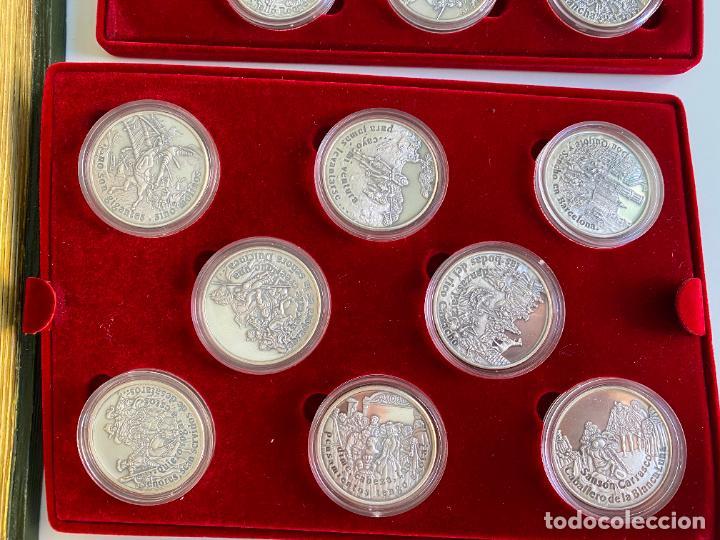 Monedas de España: EL INGENIOSO HIDALGO DON QUIJOTE , 26 MEDALLAS DE PLATA ESTUCHE LIBRO , ACUÑACIONES IBERICAS - Foto 6 - 288458178