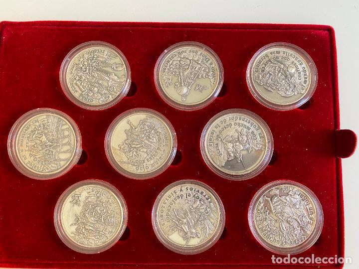 Monedas de España: EL INGENIOSO HIDALGO DON QUIJOTE , 26 MEDALLAS DE PLATA ESTUCHE LIBRO , ACUÑACIONES IBERICAS - Foto 7 - 288458178