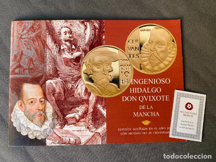 Monedas de España: EL INGENIOSO HIDALGO DON QUIJOTE , 26 MEDALLAS DE PLATA ESTUCHE LIBRO , ACUÑACIONES IBERICAS - Foto 9 - 288458178