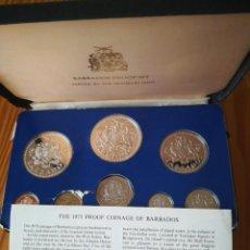 Monedas de España: SET MONEDAS BARBADOS 1975 10, 5 DOLLARS DE PLATA. Lote 292375398