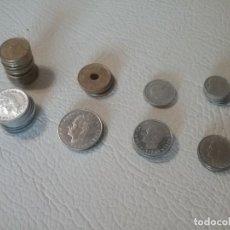 Monedas de España: LOTE DE 37 MONEDAS DE VARIOS VALORES DE PESETAS Y FECHAS.. Lote 293414243