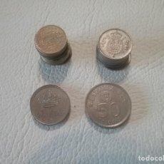 Monedas de España: LOTE DE 26 MONEDAS EN PESETAS DE DIFERENTES VALORES Y FECHAS.. Lote 293414698