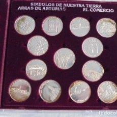 Monedas de España: SIMBOLOS DE NUESTRA TIERRA ARRAS DE ASTURIAS 13 MONEDAS PLATA. Lote 294490068