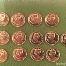 Monedas de España: 13 MONEDAS, ARRAS EN ORO 18 KTS, ISABEL II. DINASTÍAS ESPAÑOLAS. PESO 19,50 GR. Lote 295565193