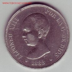 Monedas de España: ALFONSO XIII- 5 PESETAS-1888*18-88 MPM. Lote 994928