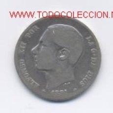 Monedas de España: ALFONSO XII- 1 PESETA- 1881. Lote 845721