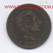 ALFONSO XII- 5 CENTIMOS-1879 (Numismática - España Modernas y Contemporáneas - De Isabel II (1.834) a Alfonso XIII (1.931))