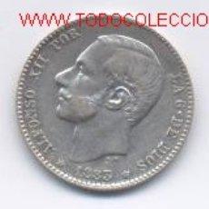 Monedas de España: ALFONSO XII- 1 PESETA- 1883*18-83. Lote 856344