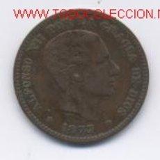 Monedas de España: ALFONSO XII- 5 CENTIMOS- 1877. Lote 856353