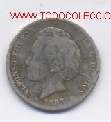 ALFONSO XIII- 1 PESETA- 1893- (Numismática - España Modernas y Contemporáneas - De Isabel II (1.834) a Alfonso XIII (1.931))