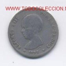 Monedas de España: ALFONSO XIII- 1 PESETA- 1891. Lote 869887