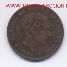 Monedas de España: ALFONSO XII- 5 CENTIMOS- 1877. Lote 894545