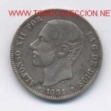 Monedas de España: ALFONSO XII- 2 PESETAS- 1884*18-84 MSM. Lote 897755
