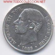 Monedas de España: ALFONSO XII- 5 PESETAS- 1882*18-82 MSM. Lote 901971