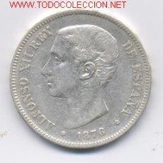 Monedas de España: ALFONSO XII- 5 PESETAS- 1876*76-DEM. Lote 901985