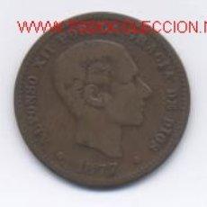 Monedas de España: ALFONSO XII- 5 CENTIMOS- 1877-OM. Lote 975647