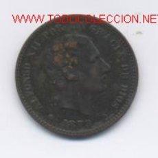 Monedas de España: ALFONSO XII- 5 CENTIMOS- 1879-OM. Lote 975651