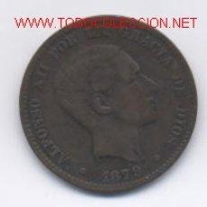 Monedas de España: ALFONSO XII- 10 CENTIMOS- 1879-OM. Lote 975658