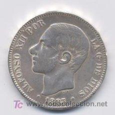 Monedas de España: ALFONSO XII- 5 PESETAS- 1883*18-83 MSM. Lote 3279285